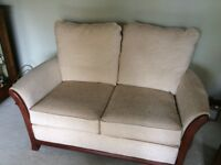 Immaculate Cream Two Seater Sofa