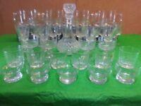 44 PIECE CRYSTAL DE ARC GLASSES