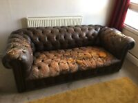 Chesterfield Sofa Vintage Leather Upcycle Restoration Project