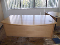 executive office desk large beech colour used north london