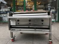 CATERING COMMERCIAL 3 GAS BURNER CHARCOAL BBQ GRILL CUISINE TAKE AWAY COMMERCIAL TAKE AWAY FAST FOOD