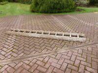 Extendable wooden ladder