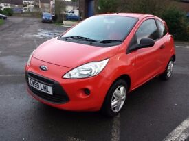FORD KA 1.2 STUDIO ONE OWNER FROM NEW ONLY 38174 MILES SUNRISE RED VERY NCE CAR