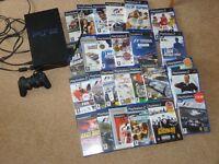 PS2 CONSOLE & GAMES.BUNDLE.26 GAMES