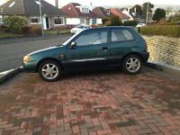 TOYOTA STARLET 1.3 CD VERY LOW 27,000 MILES
