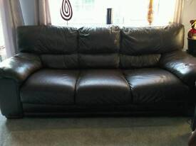 2 and 3 seater real leather Sofa's for sale