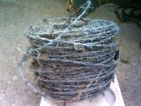 Reel of barbed wire 15kg, don't knot how lomg, bargain price