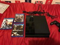 PS4 (PlayStation four) console 500GB black.