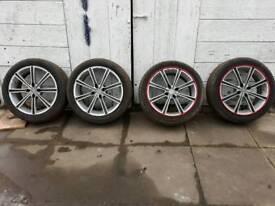 17'' 4x108 alloys with yokohama tyres