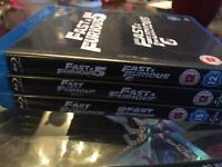 Fast and the furious blu rays