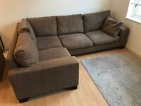Large NEXT Corner Sofa - Brown - Good Condition