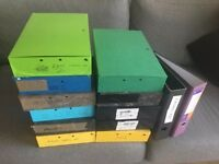 11 x Box files and 2 x lever arch files.