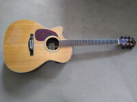 Left-Hand Stanford Electro-acoustic cutaway Guitar