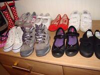 Bundle of girls footwear size 10-11