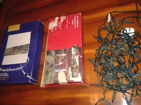 Unused LED Star tree topper and 2 Sets of Christmas Fairy Lights