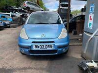 BREAKING Citroen C3 Pluriel 1.4 Blue door bumper wing window glass front rear offside nearside