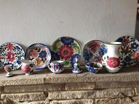 Collection of painted pottery