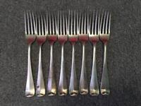 8 Antique Silver Forks