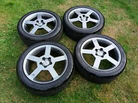 """Volvo 17"""" R Design Alloy Wheels with Tyres"""