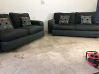Grey dfs 3&2 seater sofas, couches, suites, furniture 🚚🚛🚚