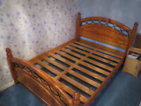 Double Bed - Pine (with or without mattress)