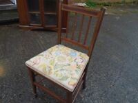 small vintage chair with spade feet