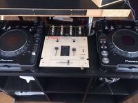 Cdj1000 and vestex mixer