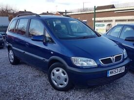 2003 53 REG VAUXHALL ZAFIRA 1.6 LOW MILES 90K MINT CAR P-X WELCOME