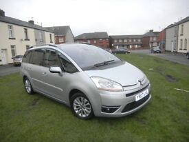 CITROEN C4 GRAND PICASSO 2.0 HDI EXCLUSIVE AUTOMATIC 07 REG 7 SEATER LOW MILEAGE 12 MONTHS MOT