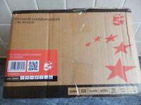 C5 brown manilla pocket envelopes (no window) - 500 press seal envelopes 90 gsm for only £5.95