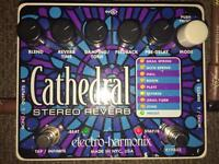 Electro-harmonix Stereo Cathedral Stereo Reverb Guitar Pedal