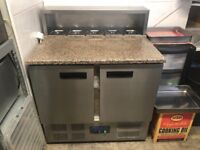 Pizza prep counter 2 door fridge- mint condition- like new ! Will accept offers