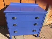 Upcycled chest of drawers.
