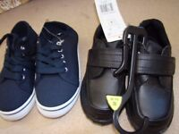 2 pairs of brand new boys footwear. SIZE 10 infant