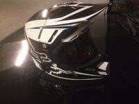 Fox V4 Flight carbon fibre MX motocross helmet with goggles