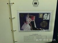 The Queens Coranotion stamps and cards