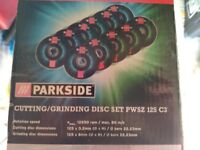 Parkside 125mm grinding discs