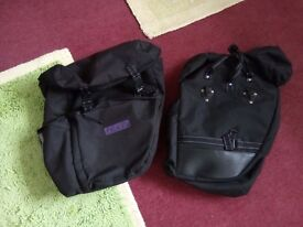 Bike panniers (rear) Used VGC two types.