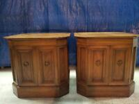 Set of 2 Hespeler Nightstand Tables Solid Wood High Quality