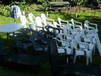 Garden Seats . chairs. New and Clean Some never been used