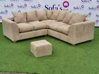 Brand new crushed velvet 2corner2 sofa sets🔥🔥🔥