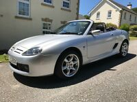 MG TF 135 Cool Blue sports convertible Metallic Silver in great condition with full service history