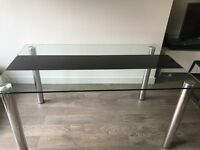 Modern Glass Table with 5 chairs