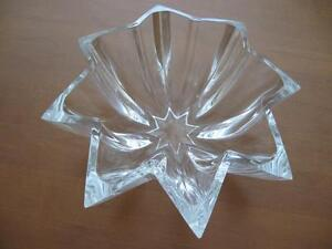 Antique Clear Glass Star Fruit Bowl