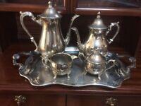Silver ware tea set