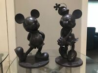 Disney mickey and Minnie solid statues