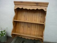 Wooden Hand Built Rustic Wall Shelf / Display Unit – Used