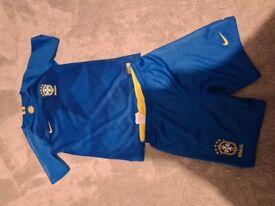 Boys Brazil football kit