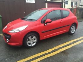 2009 peugeot 207 1.4 verve red mint throughout 35k miles fsh