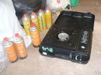 gas stove and gas canisters